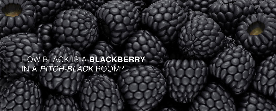 How black is a blackberry